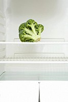 Broccoli in a fridge