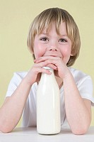 Boy with milk