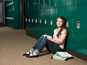 Girl by lockers