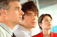 Business people in office, close-up, portrait (thumbnail)