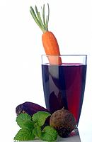 Beetroot juice and carrot