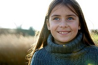 Close_up of a girl smiling