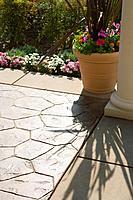 Detail of backyard tiling