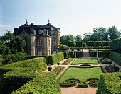 Hedges at formal garden, Dornburg, Thuringia, Germany