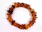 Bracelet showing Different Colours of Amber