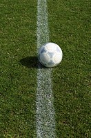 Ball lying on line