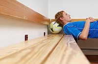 Reflective kicker lying in dressing room