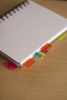 Self_adhesive notes at a notepad