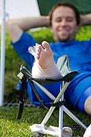 Soccer Player Icing His Foot (thumbnail)