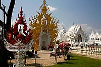 In Chiang Rai the new temple