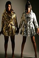 Young stylish African American women, studio shot