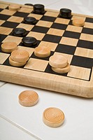 Checkers game board