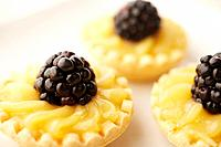 Blackberry tarts, close_up
