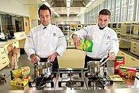 Nestle product research. Chefs preparing food for tasting during product research for Nestle, a multinational packaged food company. This is the Buito...