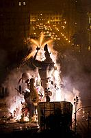 'Fallas' at night, Valencia. Comunidad Valenciana, Spain