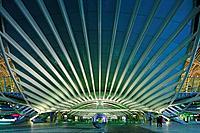View of Oriente Train Station, Olivais, Lisbon, Portugal
