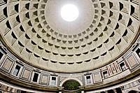 Dome of the Pantheon Basilica Santa Maria ad Martyres, Rome, Italy, Europe