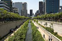 Cheonggyecheon Stream, Jung-gu, Seoul, South Korea