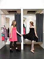 Two girls in dressing room (thumbnail)