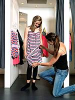 Mother and daughter in dressing room (thumbnail)