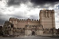 Castle of Coca. Segovia province, Castilla-Le&#243;n, Spain