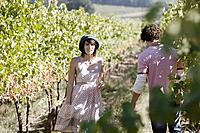 Young Couple at Vineyard