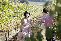 Young Couple at Vineyard
