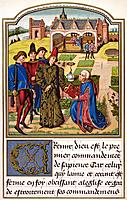 Georges Chastellain  to 1475 Burgundian chronicler and poet offers his book to Charles Duke of Burgundy From Science and Literature in The Middle Ages...