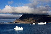 Icebergs, Island of Qoornoq, Province of Kitaa, Southern Greenland, Kingdom of Denmark