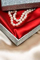 Pearl necklace in gift box