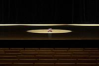 High heels in an empty theater