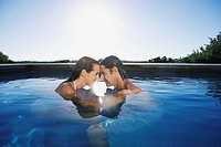 Couple in a pool