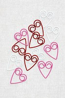 Heart shaped paper clips, studio shot