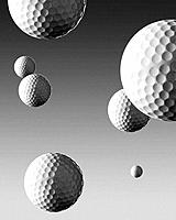 Golf balls falling from sky