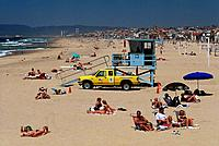 Lifeguard, Hermosa Beach, Los Angeles, Kalifornien, USA
