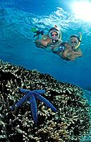 Two snorkeling girls, Bali, Indian Ocean, Indonesia