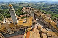 A small walled medieval town, San Gimignano, Tuscany, Italy