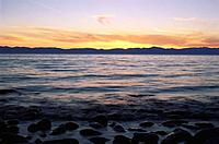 Lake Baikal at dusk, Siberia, Russia, CIS