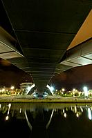 Bridge from below, Bilbao