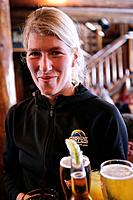 A waitress in Mad Trappers Saloon, Sunshine Village Ski Resort, Alberta, Canada