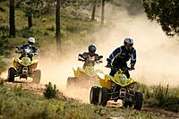 People driving Suzuki Quads, Suzuki Offroad Camp, Valencia, Spain