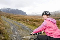 A woman cycling
