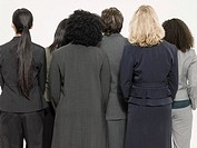 Rear view of businesswomen
