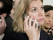 Businesspeople with cellphones