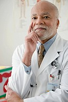 Portrait of a male doctor (thumbnail)