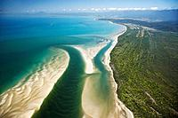 Daintree River Mouth, Daintree National Park World Heritage Area, North Queensland, Australia - aerial