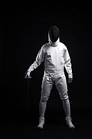 Man with fencing foil