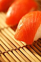 Sushi on a bamboo mat (thumbnail)