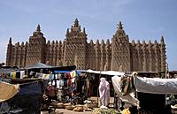 The Grande Mosque, the world´s biggest mud_brick building, Djenne, Mali Date: 08/12/2007 Ref: WP_B573_108534_0092 COMPULSORY CREDIT: World Pictures/Ph...