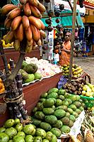 Fruit seller in Aluthgama , Sri Lanka Date: 20 04 2008 Ref: ZB648_115261_0047 COMPULSORY CREDIT: World Pictures/Photoshot